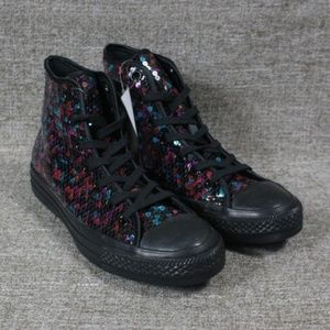 NEW! CONVERSE SEQUIN HIGH TOP SHOES!